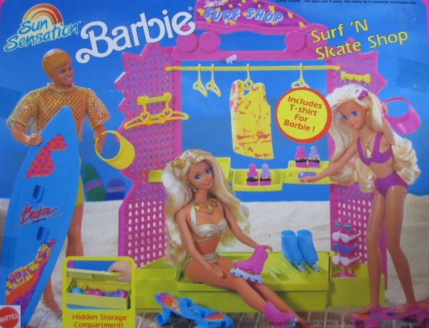 1991 Sun Sensation Barbie Surf 'N Skate Shop (Arco Toys - Mattel)