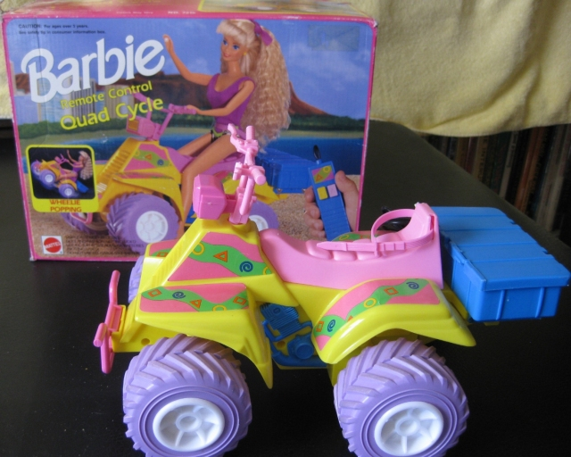 1992 Barbie Remote Control Quad Cycle