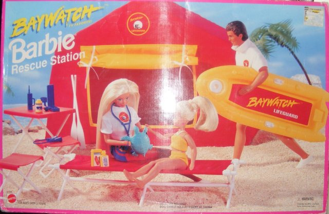 1994 Barbie Baywatch Rescue Station Playset
