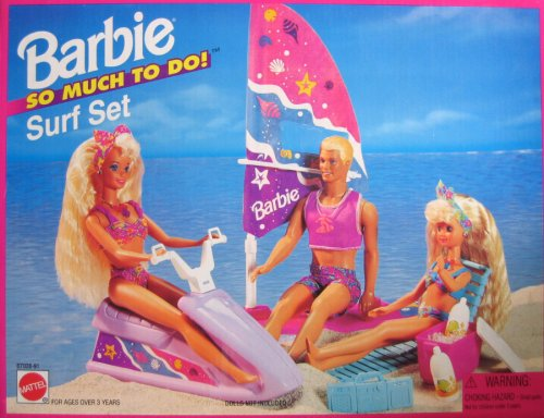 1995 Barbie So Much To Do Surf Set Playset (Arcotoys, Mattel) NRFB