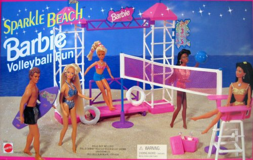 1995 Barbie Volleyball Fun Sparkle Beach Playset (Arco Toys - Mattel)