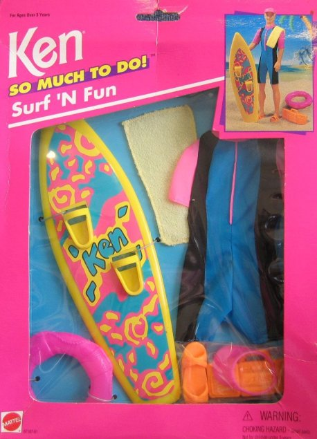 1995 Ken So Much To Do! Surf 'N Fun (Arco Toys - Mattel)
