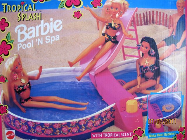 1995 Tropical Splash Barbie Pool 'N Spa (Arco Toys - Mattel)