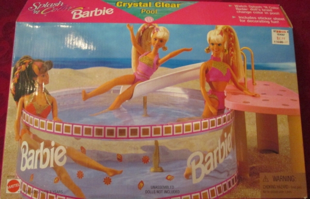 1996 BARBIE CRYSTAL CLEAR POOL – SPLASH N COLOR – NRFB.