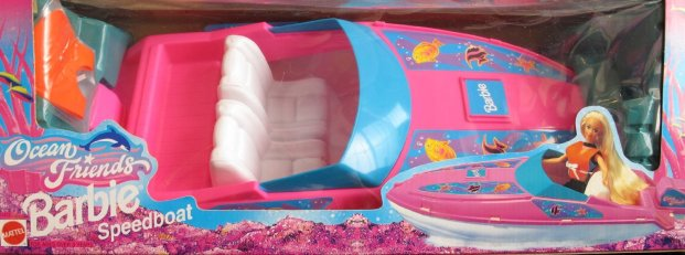 1996 Ocean Friends BARBIE SPEEDBOAT - SPEED BOAT (Arcotoys, Mattel)