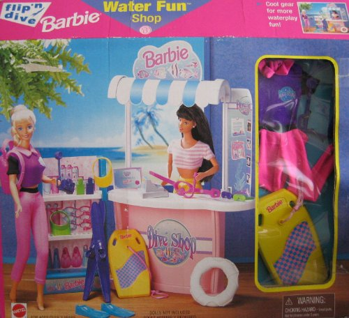 1997 Flip 'n Dive Barbie Water Fun Shop (Arcotoys, Mattel) NRFB