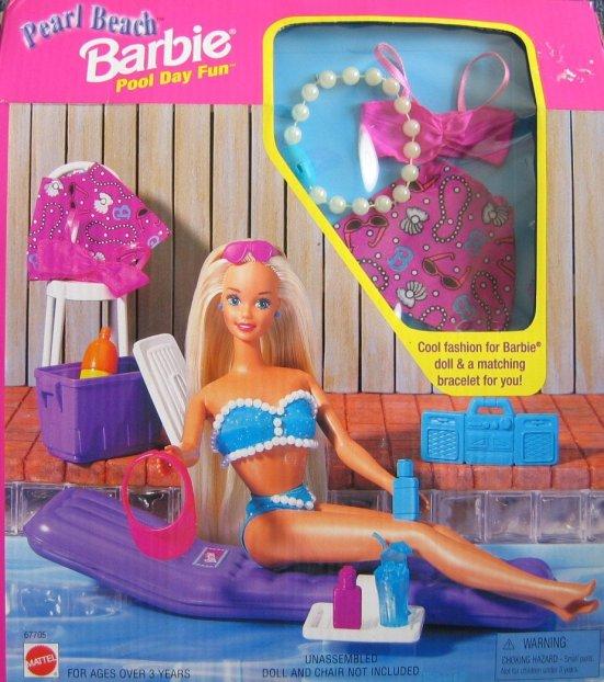 1997 Pearl Beach Barbie Pool Day Fun (Arco Toys - Mattel)