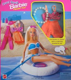 1998 Barbie Doll Pearl Beach Play Paks