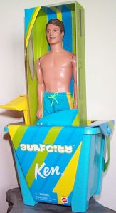 2000 Surf City Ken Beach Play Set