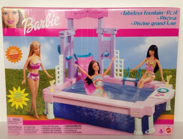 2002 Barbie Fabulous Fountain Pool Playset - NRFB