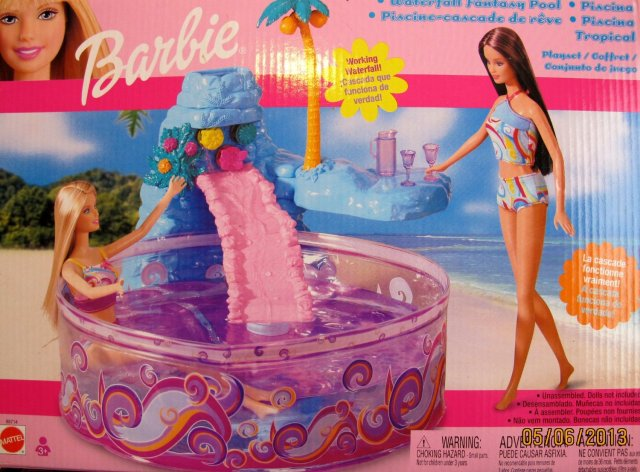 2003 Barbie Waterfall Fantasy Pool Playset