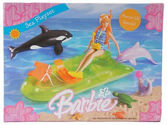 2005 Barbie Sea Playset, Marine Life Friends!