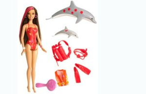 2008 Barbie Surfs-Up Color Change Diver - Teresa