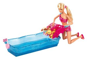 2013 Barbie Swim and Race Pups Playset