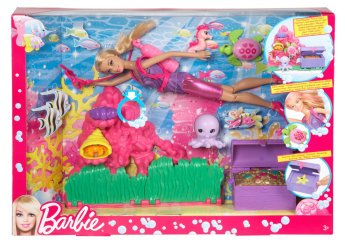 2014 Barbie I Can Be Ocean Treasure Explorer Doll Playset