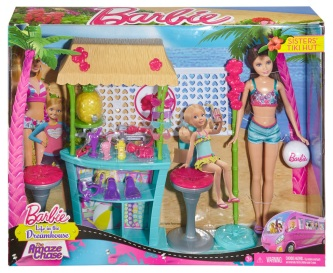 #CBR14 Barbie Sisters Skipper Doll and Tiki Hut Playset.