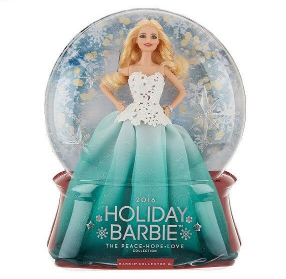 2016 Barbie Holiday Blonde hair