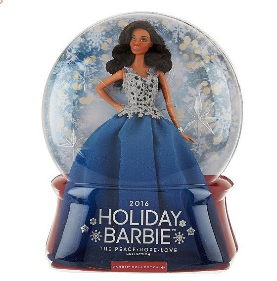 2016 Barbie Holiday Brown hair