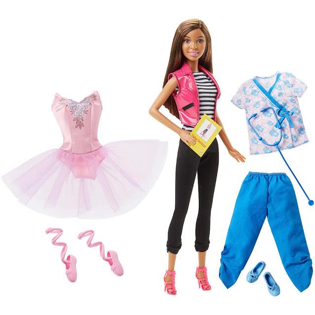 2016 Barbie I Can Be Ballerina Fashion Designer And Pet Vet Aa Dol Flyer Barbie Doll