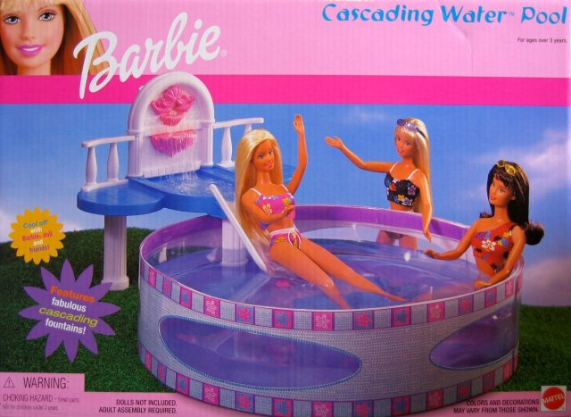 Barbie 2001 Cascading Water Pool