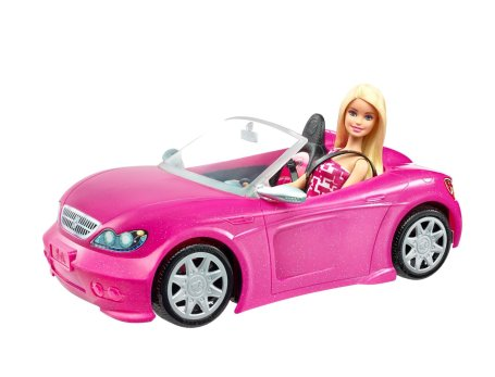 Barbie and Convertible car