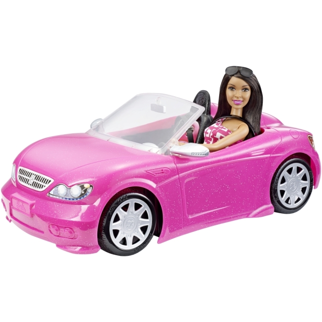Barbie Black Hair Doll & Glam Converible