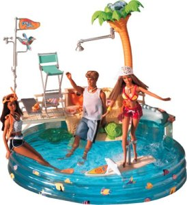 Barbie California Girl Pool Giftset