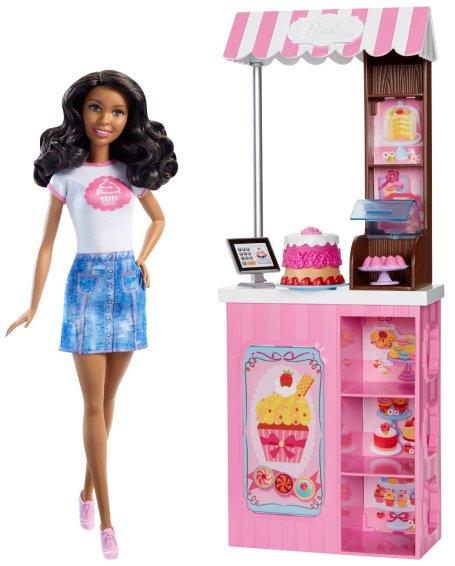 Barbie Careers Bakery Shop Playset Black Hair