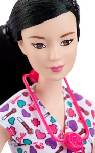 Barbie Careers Nurse Doll, Asian face