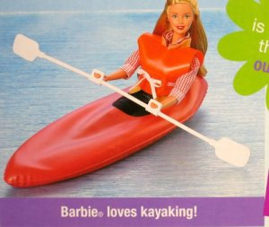 Barbie Coleman Campin' Gear Playset w Mini Coleman Camping Gear boat