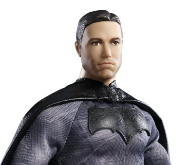 Barbie Collector Batman v Superman Dawn of Justice Batman Doll face