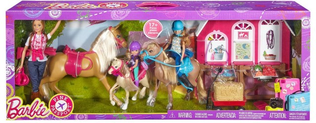 2016 Barbie Doll and Ranch Build Up Playset nrfb