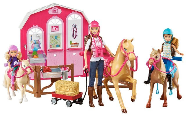 Barbie Doll and Ranch Build Up Playset