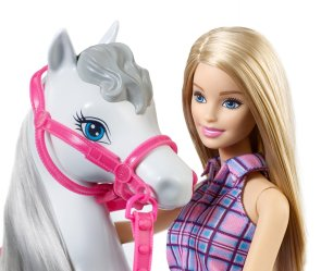Barbie Doll & Horse face