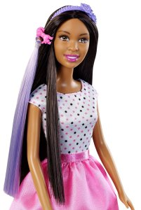 Barbie Doll with Hair Accessory face
