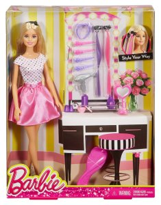 Barbie Doll with Hair Accessory nrfb