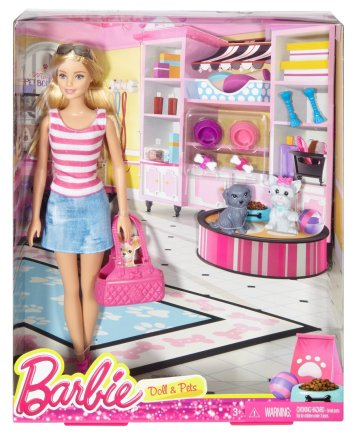 Barbie Doll with Puppy Accessory nrfb
