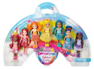 2016 Barbie Dreamtopia Rainbow Cove 7 Chelsea dolls.