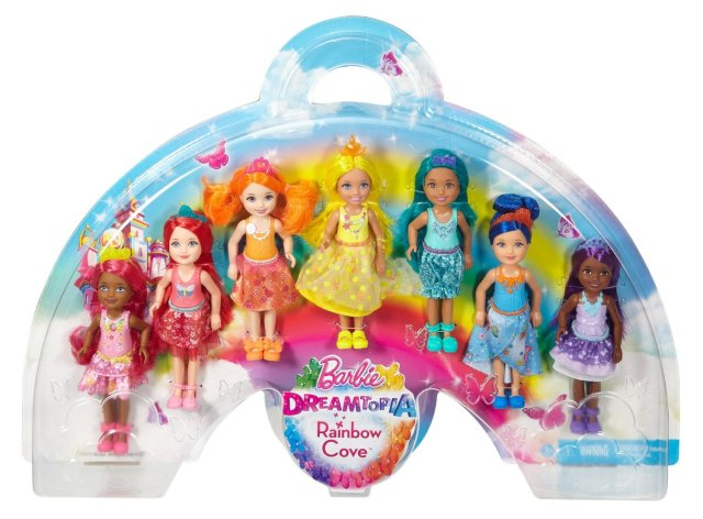 Barbie Dreamtopia Rainbow Cove 7 Chelsea dolls