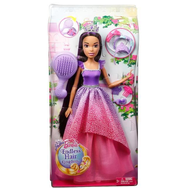 Barbie Endless Hair Kingdom 17 inch Princess Doll brunette