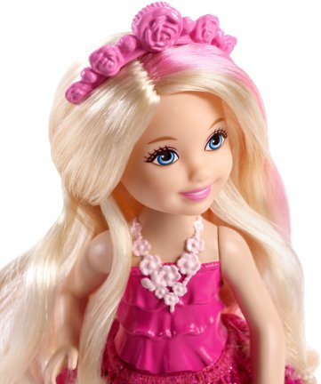 Barbie Endless Hair Kingdom Chelsea Doll, Pink face
