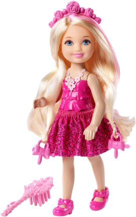 Barbie Endless Hair Kingdom Chelsea Doll, Pink