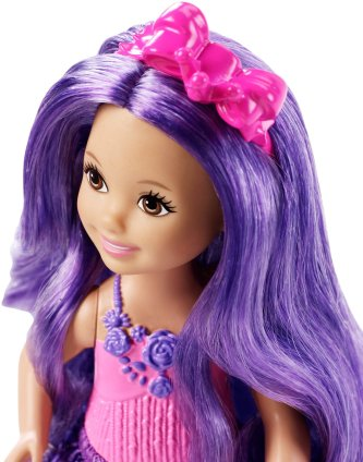 Barbie Endless Hair Kingdom Chelsea Doll, Purple face