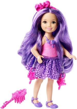 Barbie Endless Hair Kingdom Chelsea Doll, Purple