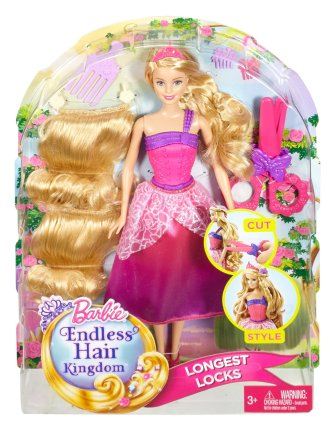 Barbie Endless Hair Kingdom Princess Doll, Pink nrfb