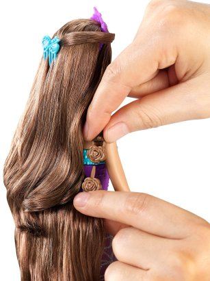 Barbie Endless Hair Kingdom Princess Doll, Purple back