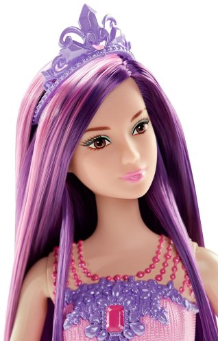 Barbie Endless Hair Kingdom Princess Doll, Purple face
