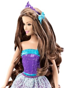 Barbie Endless Hair Kingdom Princess Doll, Purple face1