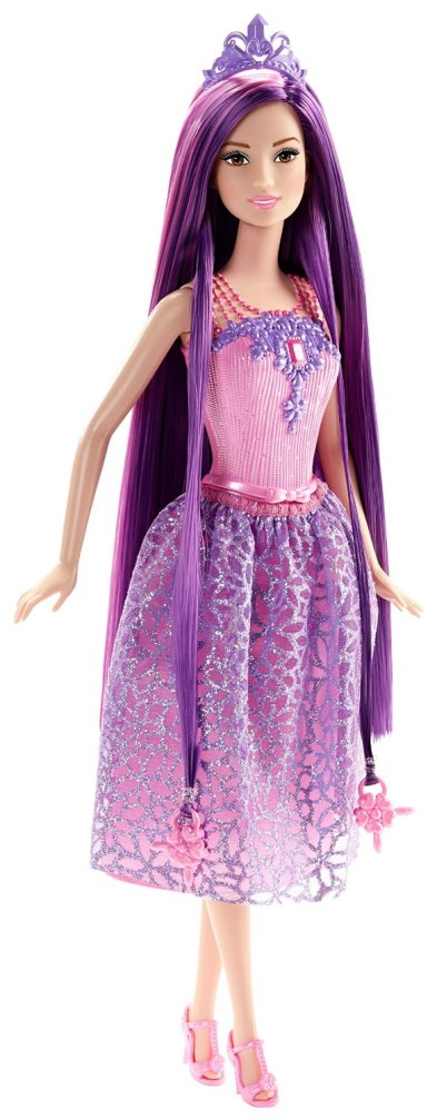 Barbie Endless Hair Kingdom Princess Doll, Purple fl.jpg open m
