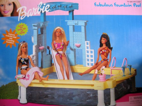 Barbie Fabulous Fountain Pool Playset (1999 Arcotoys, Mattel)